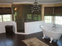 custom steam shower and whirlpool tub