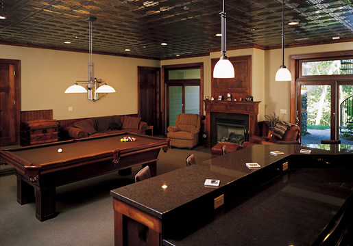 Professional Building Systems Basement Pool Table